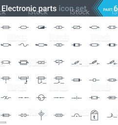 electric and electronic circuit diagram symbols set of fuses and electrical protection symbols royalty free [ 1024 x 1024 Pixel ]