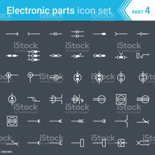 small resolution of electric and electronic icons electric diagram symbols electrical connectors sockets plugs and