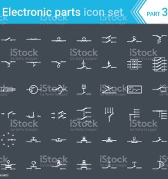 electric and electronic icons electric diagram symbols switches pushbuttons and circuit switches  [ 1024 x 1024 Pixel ]