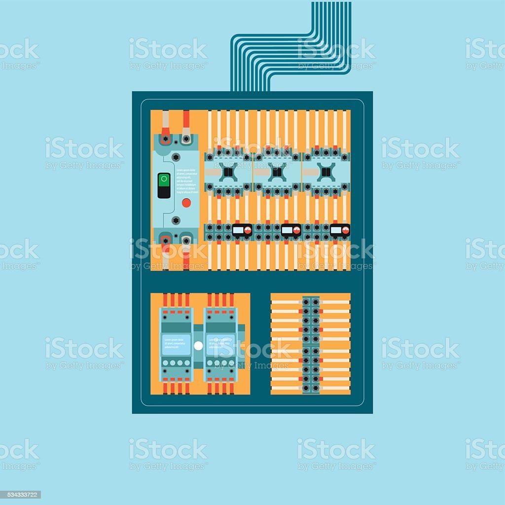 best fuse box illustrations royalty free vector graphics u0026 clip artelectrical control wire system [ 1024 x 1024 Pixel ]