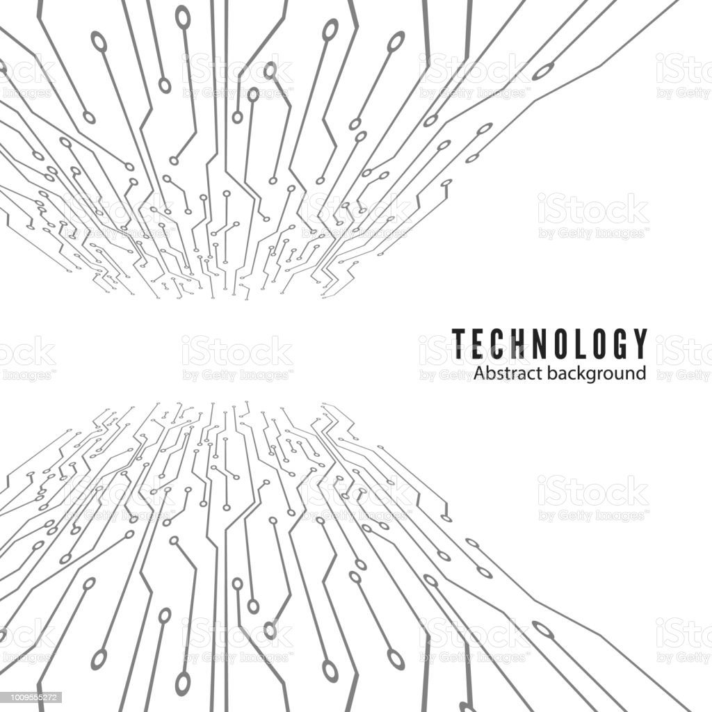 Electronic Circuit Board Abstract Technology Background
