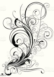 elegant colorless swirl floral