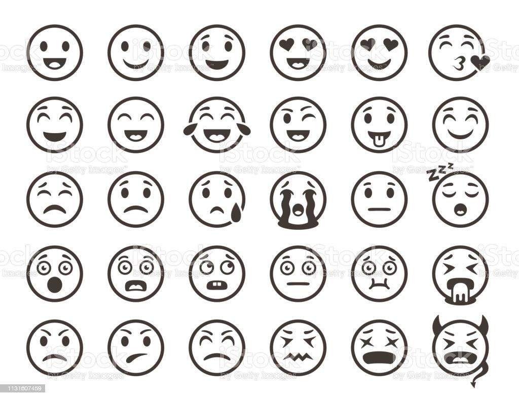 emoticons outline emoji faces