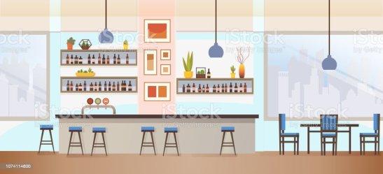 158 898 Empty Restaurant Illustrations Royalty Free Vector Graphics & Clip Art iStock