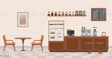 8 862 Cafe Interior Illustrations Royalty Free Vector Graphics & Clip Art iStock