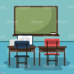 Empty Classroom Cartoon Stock Illustration Download Image Now iStock