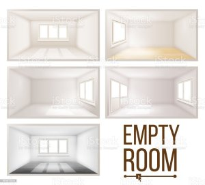 vector interior empty 3d wall down falling background sunlight realistic comfortable illustration living clip construction window illustrations clean apartment plastic