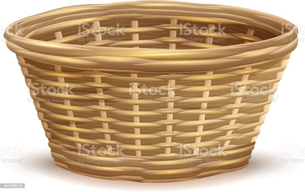 wicker basket illustrations