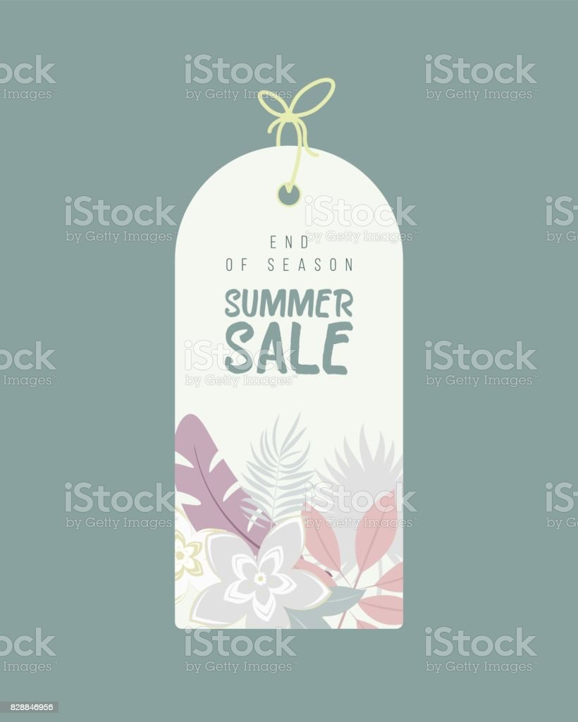 Out Of Season Label : season, label, Season, Summer, Background, Flowers, Stock, Illustration, Download, Image, IStock