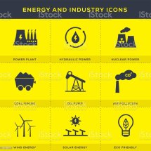 Energy And Industry Icons Set Stock Vector Art &