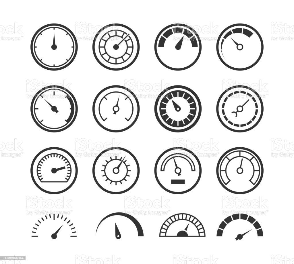 Energy Meter Icon Speedometer Manometer Tachometer