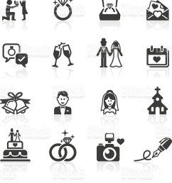 engagement wedding icons vector art illustration [ 854 x 1024 Pixel ]
