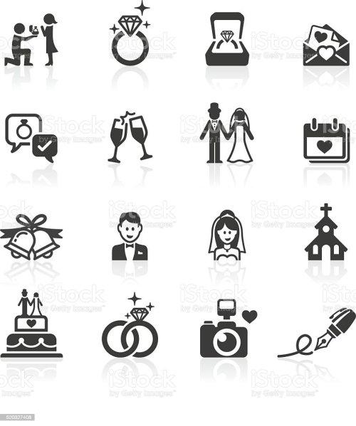 small resolution of engagement wedding icons vector art illustration