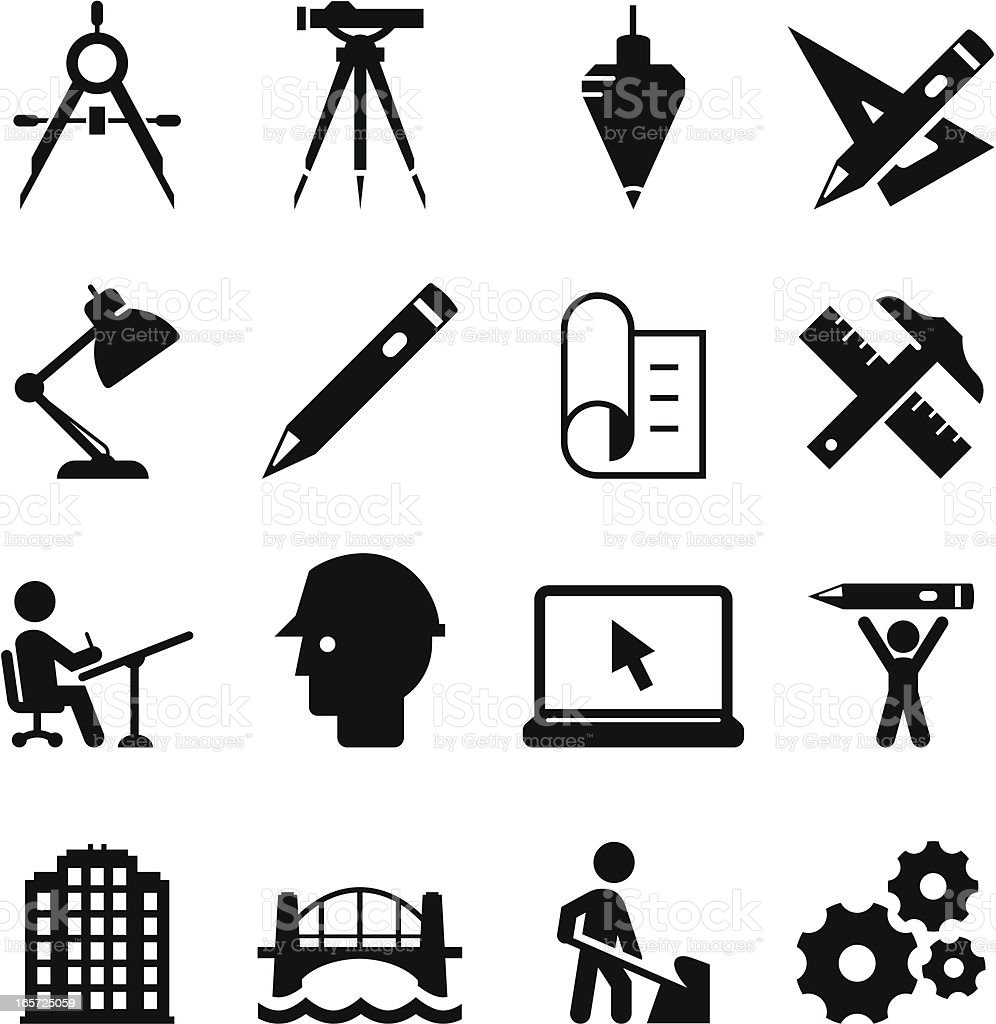 Engineering Icons Black Series Stock Vector Art & More
