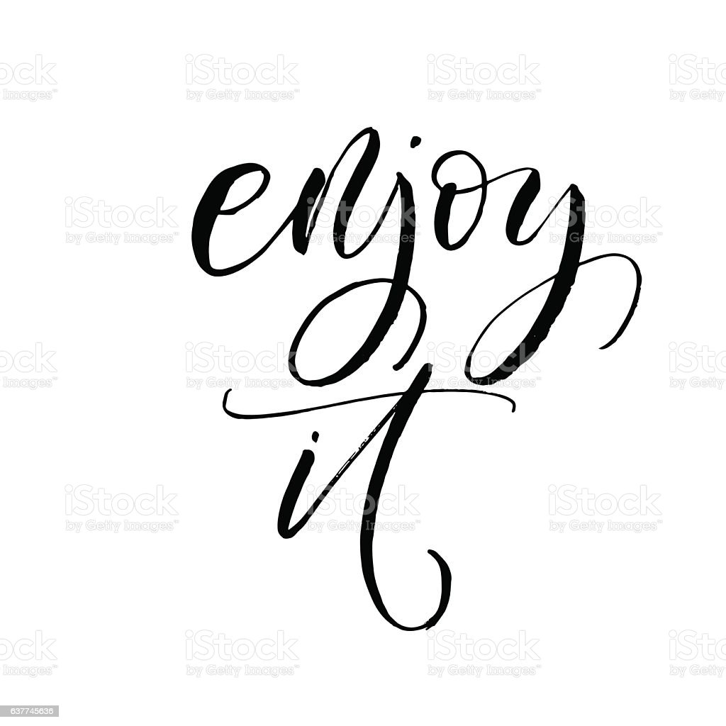 enjoy it postcard stock