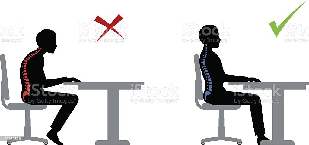 best office chair for back pain oval dining side royalty free ergonomics clip art, vector images & illustrations - istock