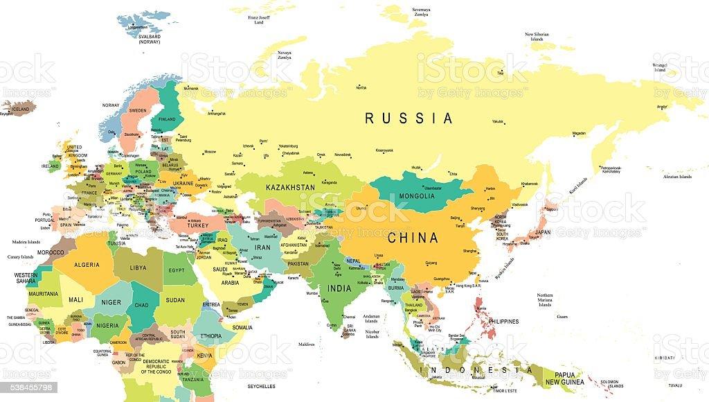 Eurasia Map Illustration Stock Vector Art & More Images Of