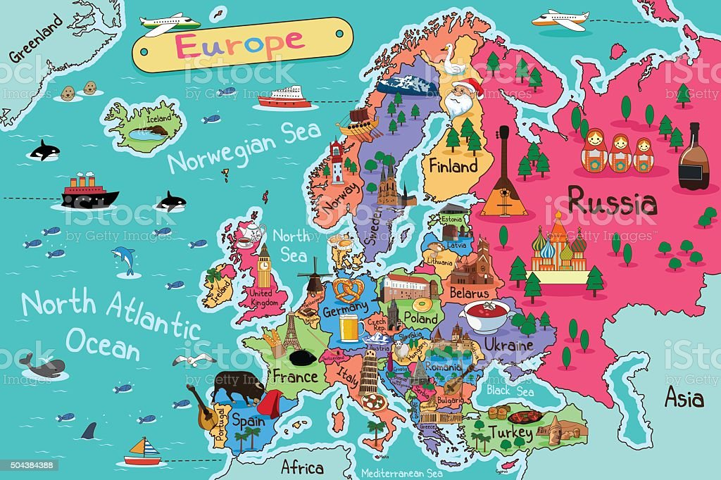 Europe Map Clip Art Vector Images Illustrations Istock
