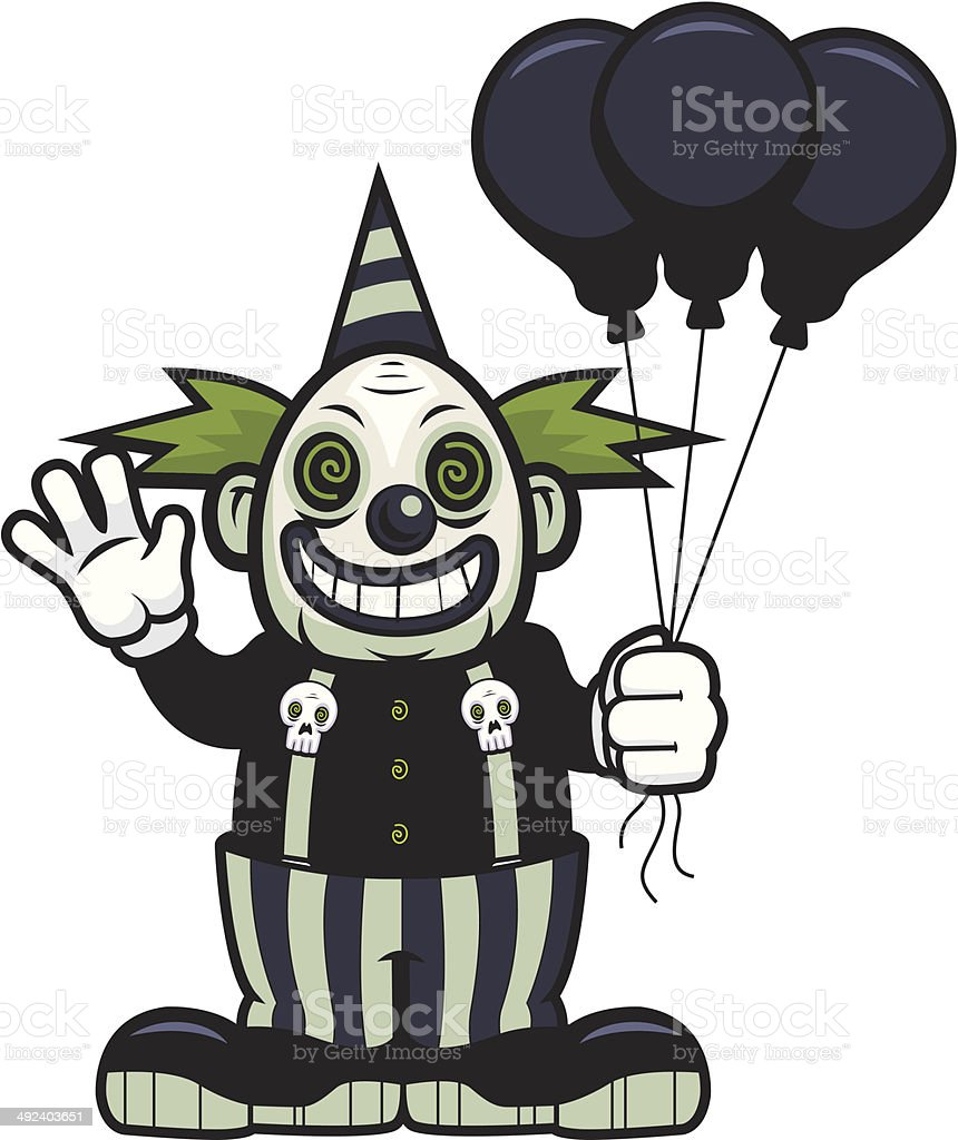 royalty free scary clown clip art