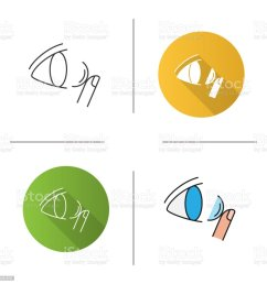 eye contact lenses icon royalty free eye contact lenses icon stock vector art amp  [ 1024 x 1024 Pixel ]