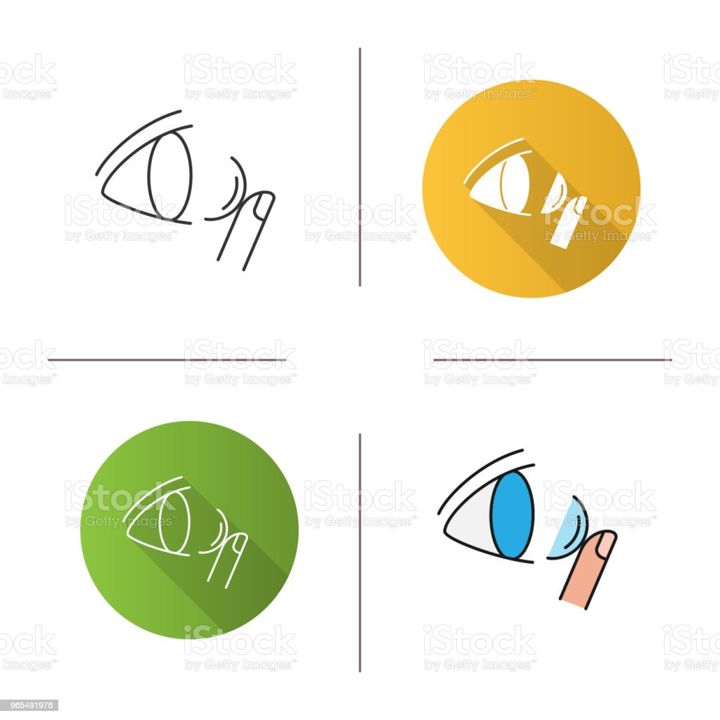 hight resolution of eye contact lenses icon royalty free eye contact lenses icon stock vector art amp