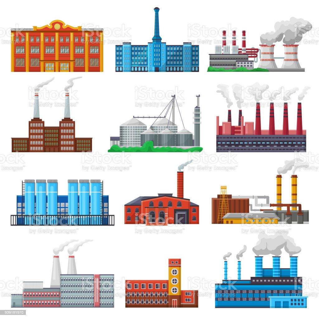 factory vector industrial building