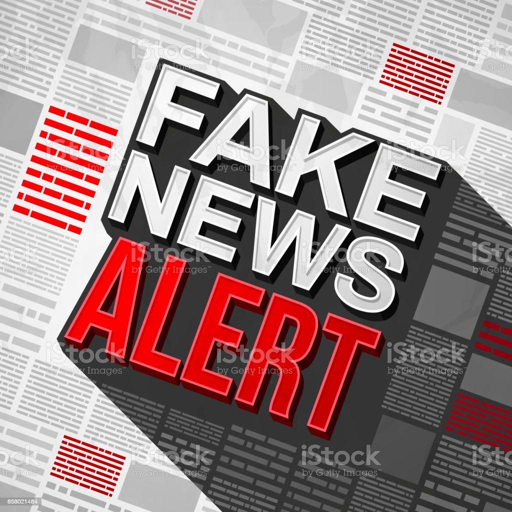 Fake News Alert Stock Illustration - Download Image Now - iStock
