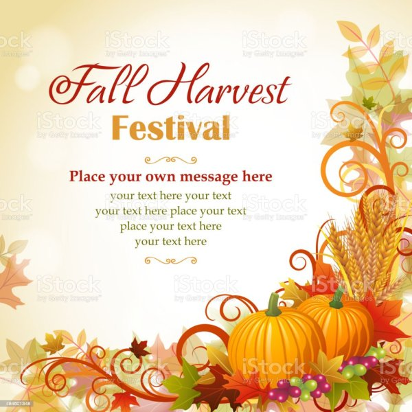 fall harvest festival stock vector