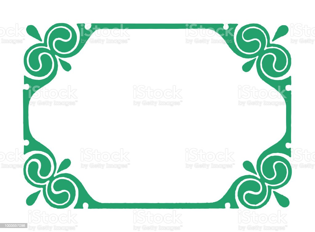 fancy corner border stock