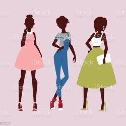 Fashion Models Woman Silhouette Sketch Attractive Lady Elegant Adult Character Vector Illustration Stock Illustration Download Image Now iStock