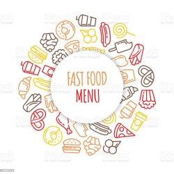 menu food background fast cartoon vector many thanks