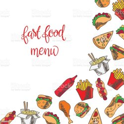 food menu background fast vector icons backgrounds beef illustration burger cheese basket