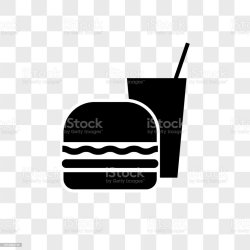 Fast Food Vector Icon On Transparent Background Fast Food Icon Stock Illustration Download Image Now iStock