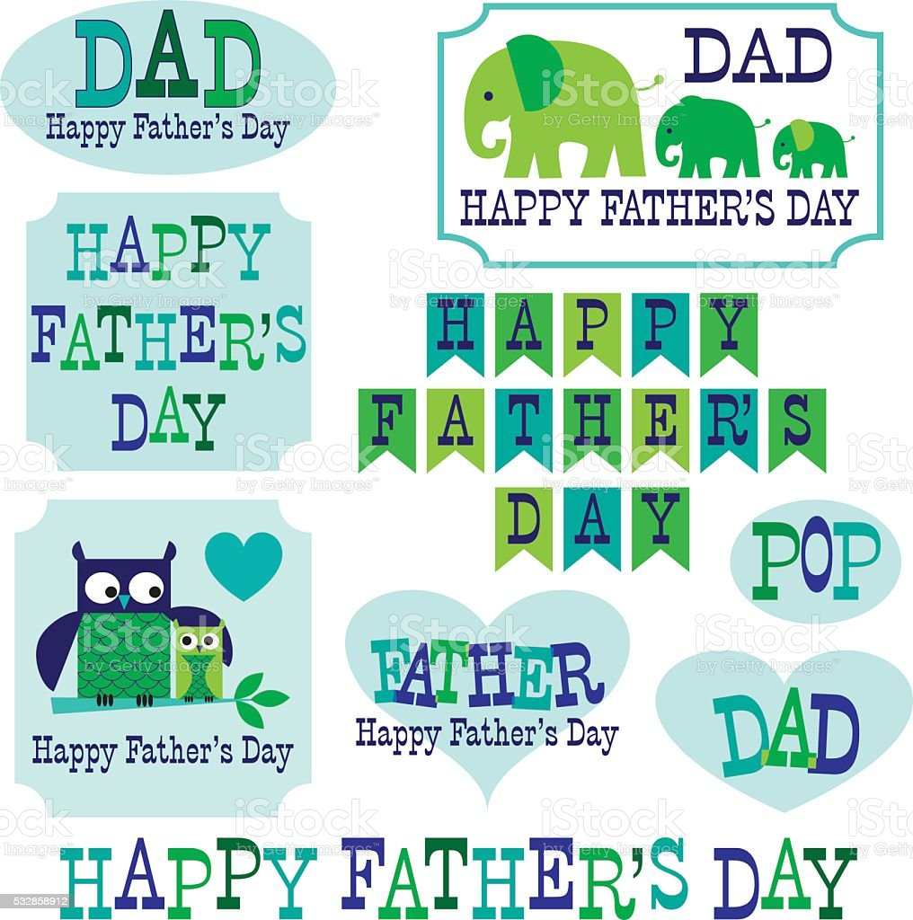 hight resolution of father s day clipart with owls elephants royalty free fathers day clipart with owls elephants stock