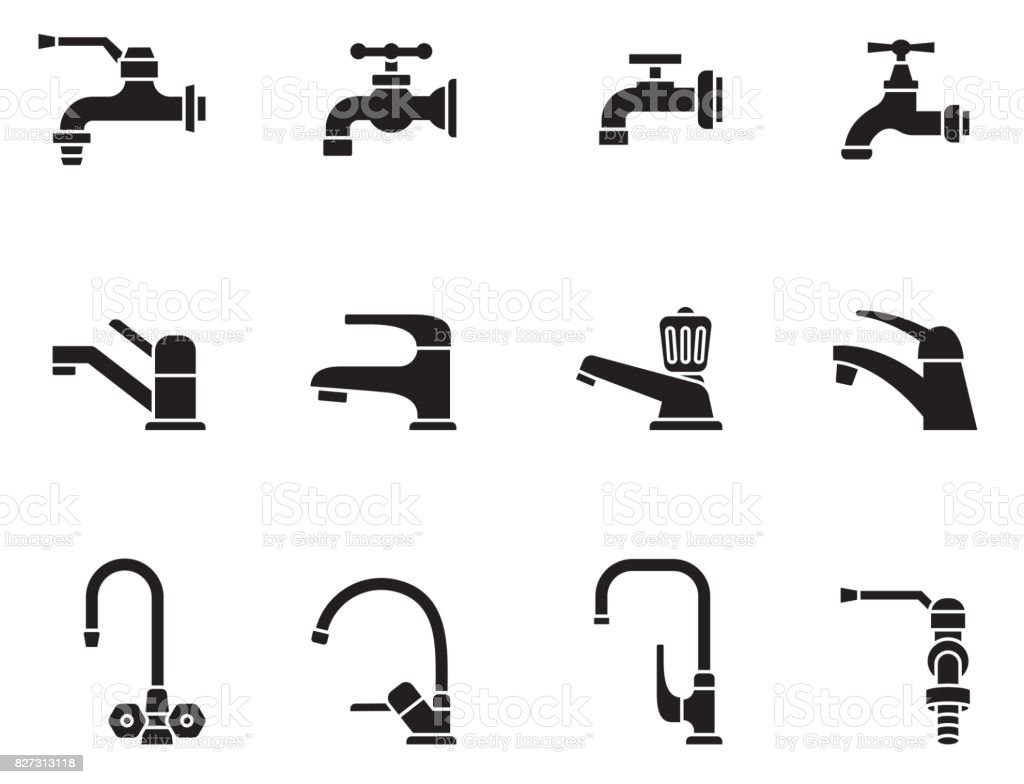 Sign For Bathroom Faucet Vector Icon Tap Sign Bathroom Symbol Stock Vector Art