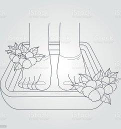 female feet in the bath pedicure procedure royalty free female feet in the [ 1024 x 1024 Pixel ]