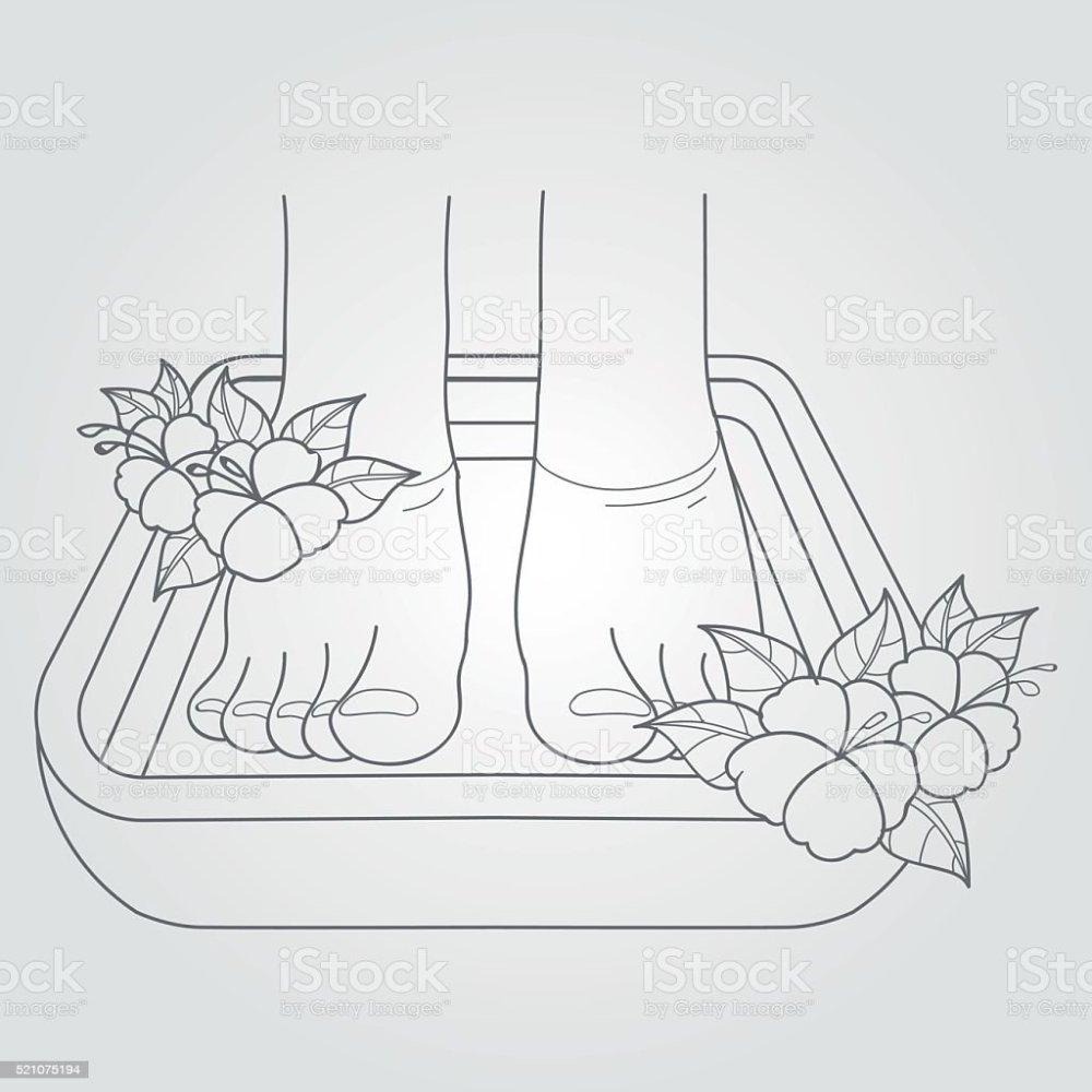 medium resolution of female feet in the bath pedicure procedure royalty free female feet in the