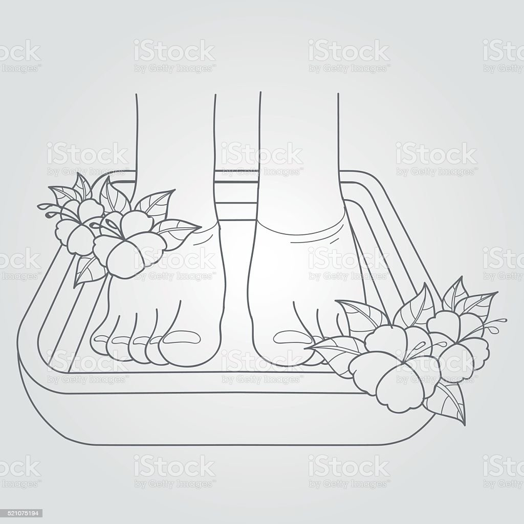 hight resolution of female feet in the bath pedicure procedure royalty free female feet in the