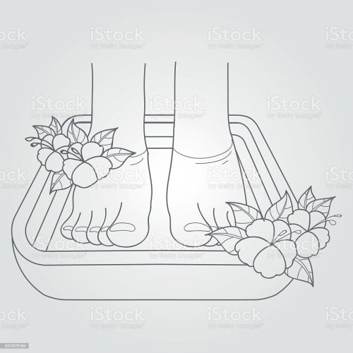 small resolution of female feet in the bath pedicure procedure royalty free female feet in the