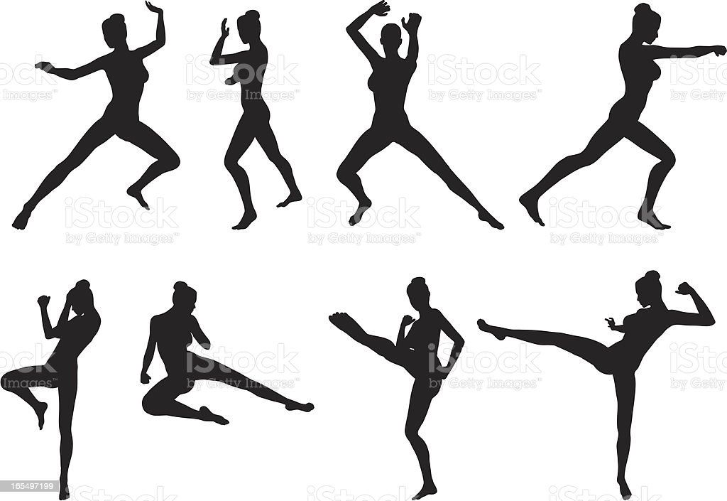 Female Martial Arts Stock Vector Art & More Images of
