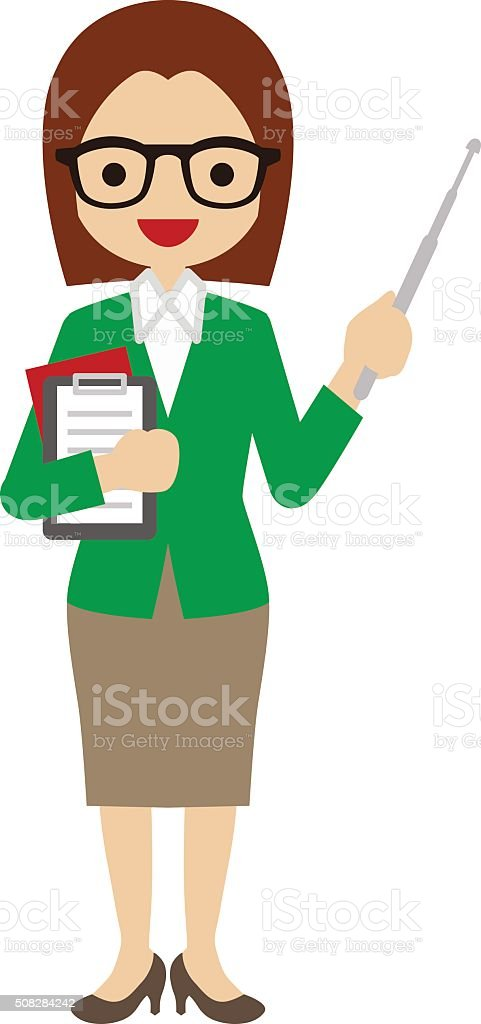 teacher clip art vector