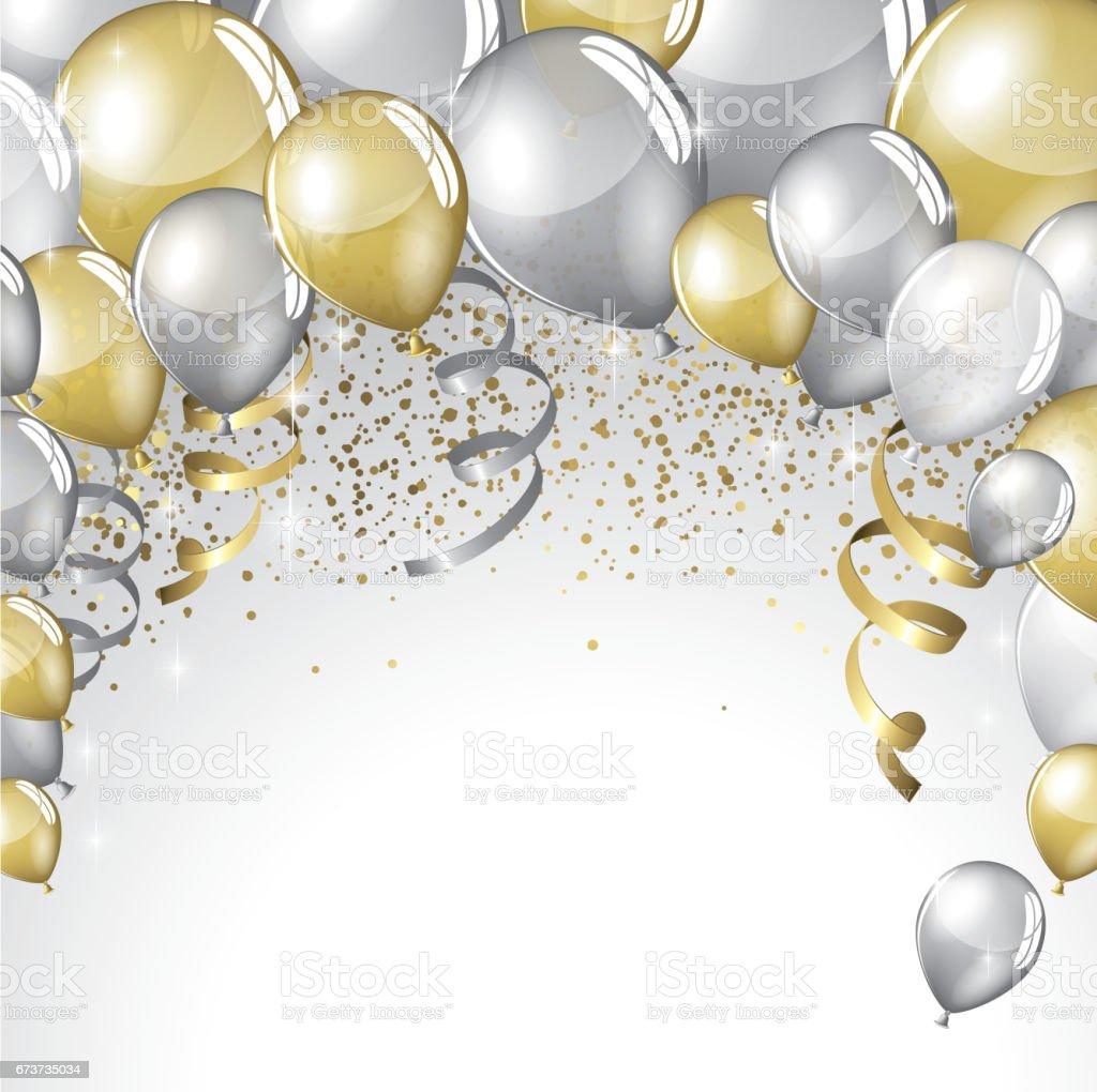 festive balloons background stock