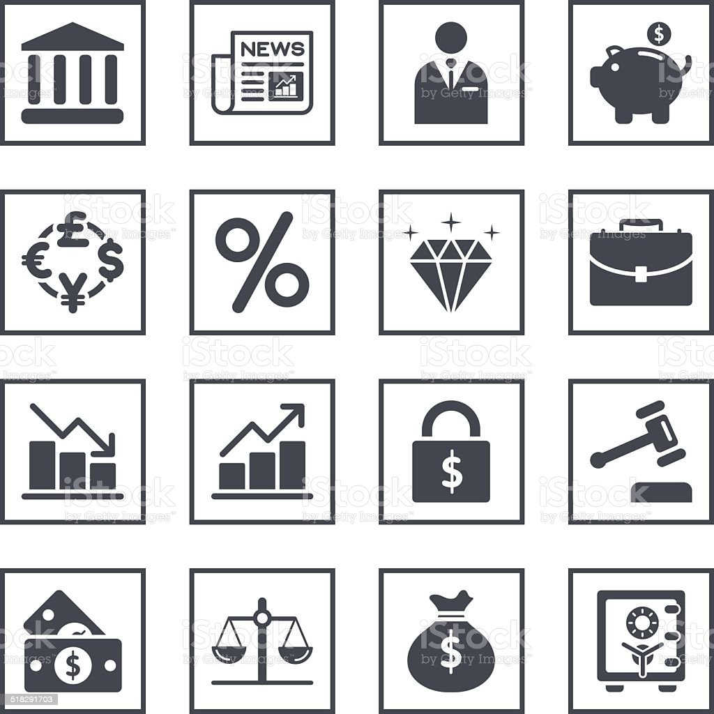 Finance Trading Related Symbols Stock Illustration