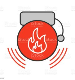 fire alarm icon royalty free fire alarm icon stock vector art amp more images [ 1024 x 1024 Pixel ]