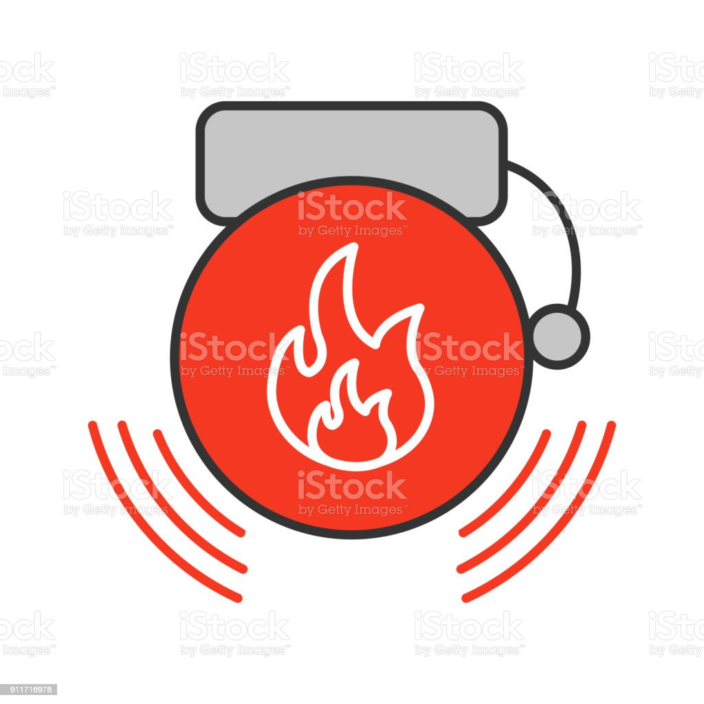 hight resolution of fire alarm icon royalty free fire alarm icon stock vector art amp more images