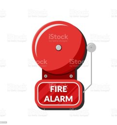 fire alarm system fire equipment vector illustration in flat style isolated on white background illustration  [ 1024 x 1024 Pixel ]