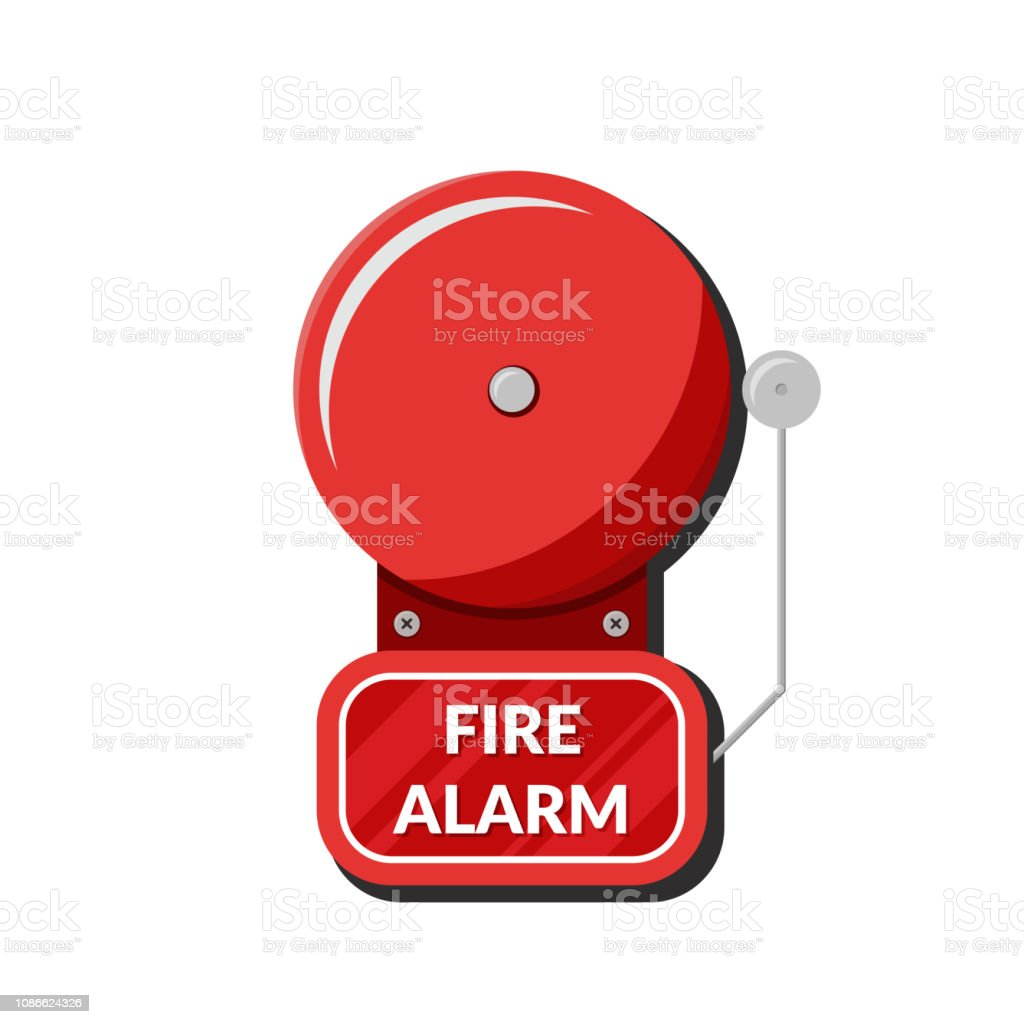 hight resolution of fire alarm system fire equipment vector illustration in flat style isolated on white background illustration