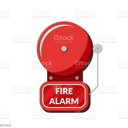 small resolution of fire alarm system fire equipment vector illustration in flat style isolated on white background illustration