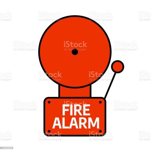 small resolution of fire alarm system red alarm vector illustration illustration