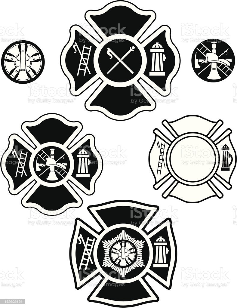 Fire Department Emblems Stock Vector Art & More Images of
